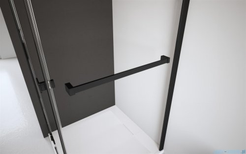 Radaway Nes Black Dws drzwi wnękowe 110cm prawe szkło przejrzyste 10028110-54-01R