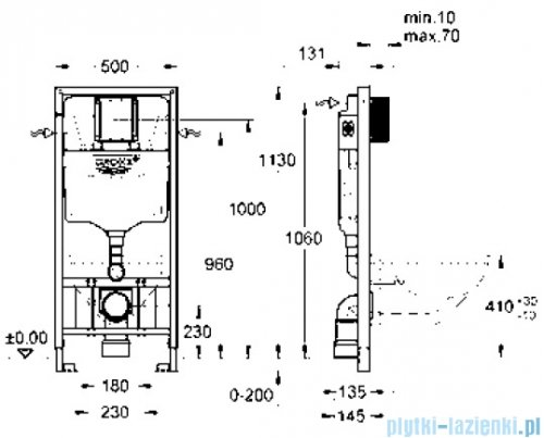 Grohe Rapid SL do WC ściennego 38897000