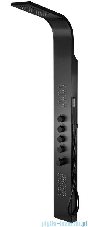 Corsan Samsara panel natryskowy z termostatem stalowy czarny