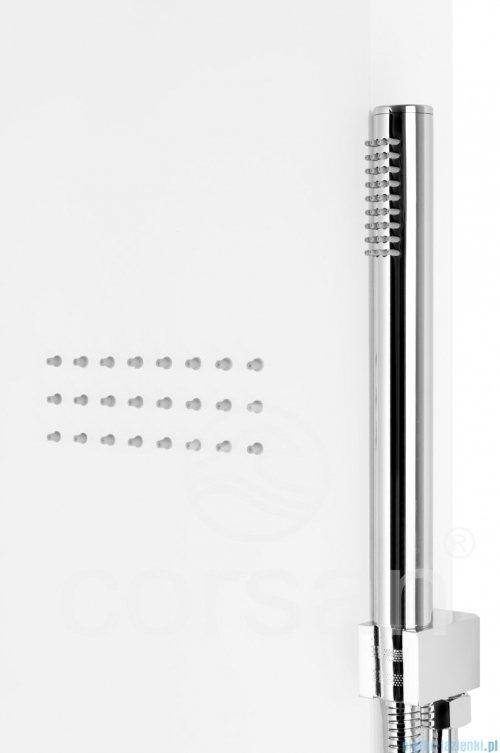 Corsan Akoja Panel natryskowy z mieszaczem biały A-025MBIAŁY