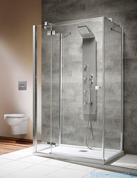 Radaway Kabina prysznicowa Almatea KDJ+S 80x120x80 lewa szkło przejrzyste + brodzik Doros D + syfon ShowerGuard