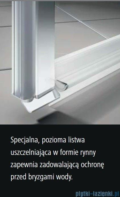 Kermi Osia Kabina prysznicowa 1 skrzydłowa prawa, szkło przezroczyste 80x120 cm OSSTR08020VPK/OSTWD12020VPK
