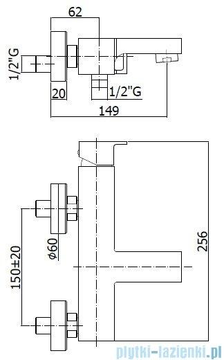 Paffoni  Bateria wannowa, chrom Effe EF022CCRCR