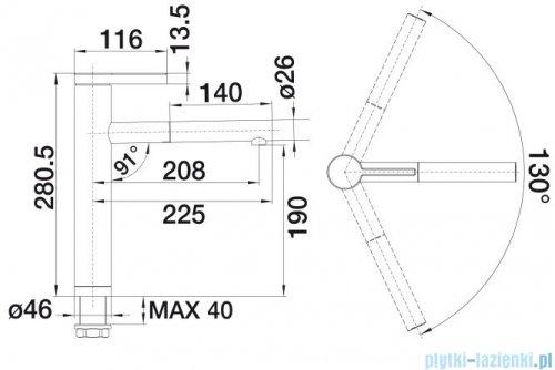 Blanco Linee-s bateria wysokociśnieniowa kolor: stal szlach. polerowana  517592