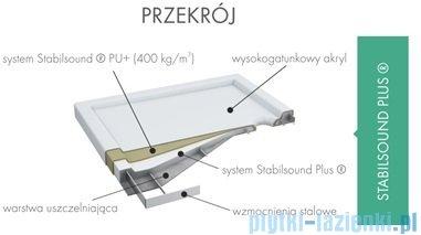 Schedpol Corrina brodzik akrylowy prostokątny 110x80x5,5cm 3.0243