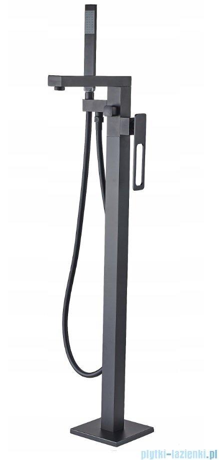 Rea Soho bateria wannowa wolnostojąca z zestawem natryskowym czarna REA-B0184