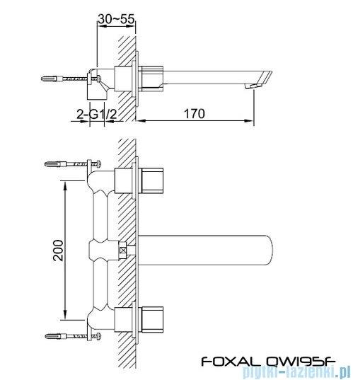 Kohlman Foxal Podtynkowa bateria umywalkowa QW195F