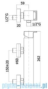 Paffoni  Bateria natryskowa Effe chrom EF168CRCR