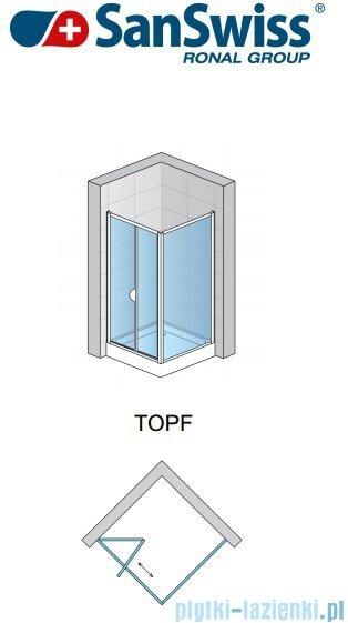 SanSwiss TOPF Ścianka boczna profil połysk 100cm TOPF10005007