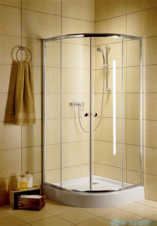 Radaway Classic A Kabina prysznicowa półokrągła z drzwiami przesuwnymi 90x90x185 szkło brązowe