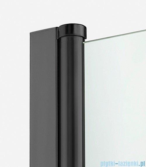 New Trendy New Soleo Black drzwi wnękowe bifold 80x195 cm przejrzyste lewe D-0221A