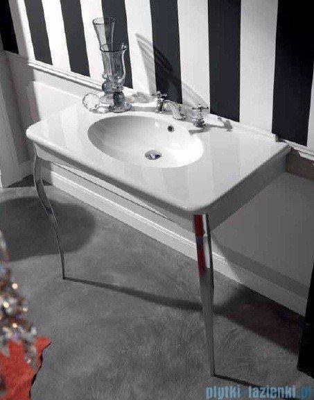 Kerasan Retro Umywalka biała z nogami złotymi 100x55 cm 1049K1