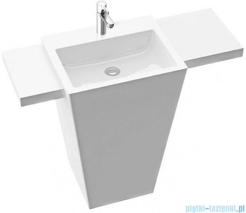 Marmorin Tebe 55 SR umywalka stojąca z półką krótka prawą z otworem biały połysk PS0821405500100003