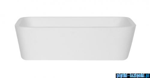 Besco Assos S-Line Glam Srebrna umywalka nablatowa 40x50x15cm #UMD-AP-NBS
