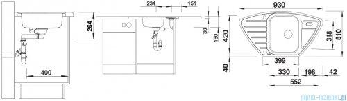 Blanco Lantos 9 E-IF zlewozmywak stal szlachetna szczotkowana z k. aut. 516277