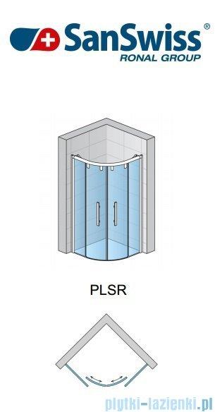 SanSwiss Pur Light S PLSR Kabina półokrągła z drzwiami rozsuwanymi 90cm PLSR550900407