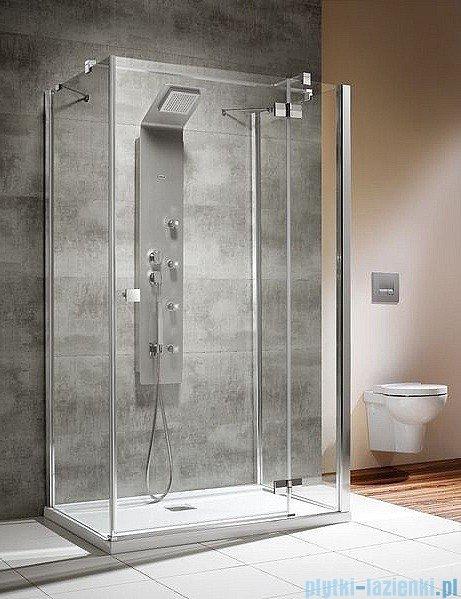 Radaway Kabina prysznicowa Almatea KDJ+S 90x80x90 prawa szkło przejrzyste + brodzik Doros D + syfon