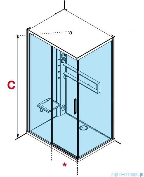 Novellini Glax 2 2.0 kabina z hydromasażem hydro plus  120x90 prawa total biała G222P290DM1L-1UU
