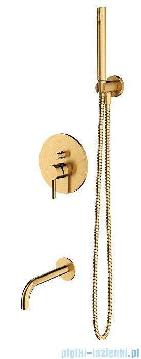 Omnires Y zestaw podtynkowy wannowy złoto szczotkowane SYSYW01GLB