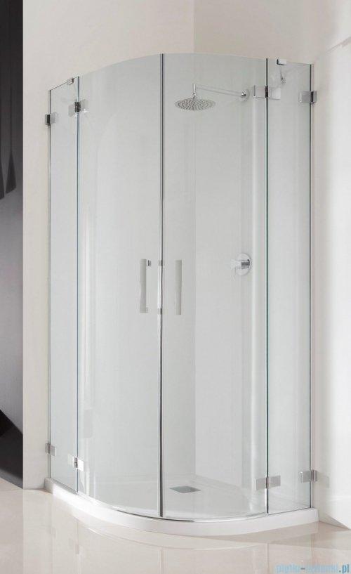 Radaway Euphoria PDD Kabina prysznicowa 100x100 szkło przejrzyste + brodzik Patmos A + syfon