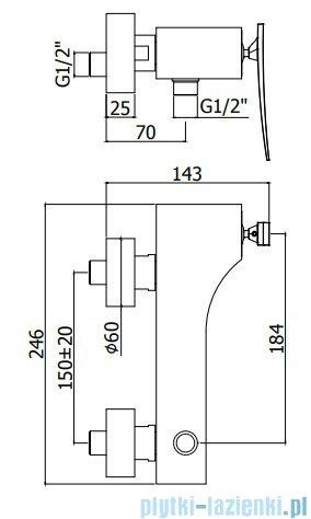 Paffoni Elys Bateria natryskowa chrom ELY168CR