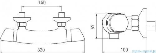 Ferro Metalia Bateria termostatyczna natryskowa 57961/1.0