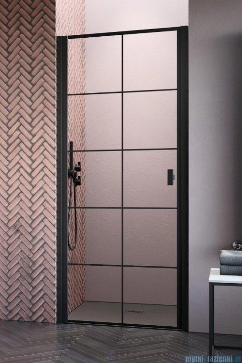 Radaway Nes Black Dwj I Factory Drzwi wnękowe 70cm lewe, industrialny, loft