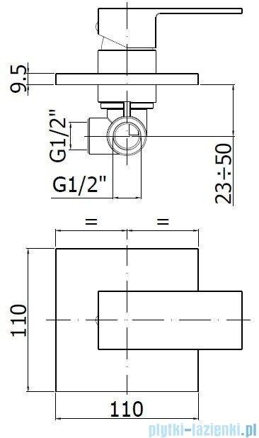 Paffoni  Bateria natryskowa podtynkowa Effe chrom EF010CR