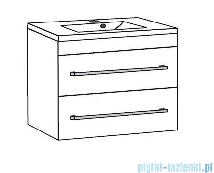 Antado Spektra ceramic szafka z umywalką 2 szuflady 72x43x50 stare drewno 670723/666788