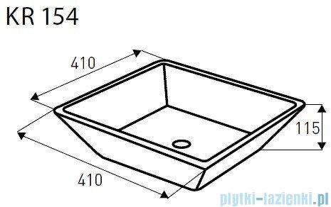 Novoterm Kerra Umywalka nablatowa KR 154 kwadratowa 42x42 cm