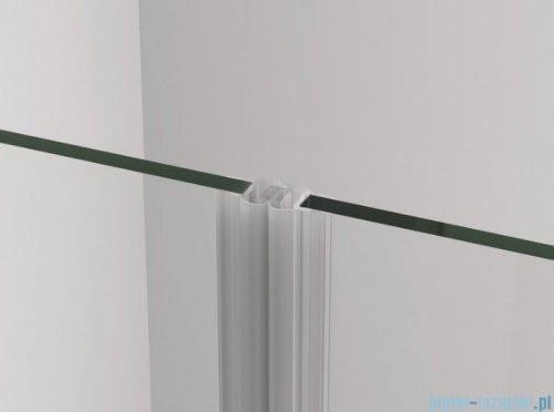 SanSwiss Cadura Black Line drzwi wahadłowe 75cm jednoczęściowe lewe z profilem przyściennym czarny mat CA1CG0750607