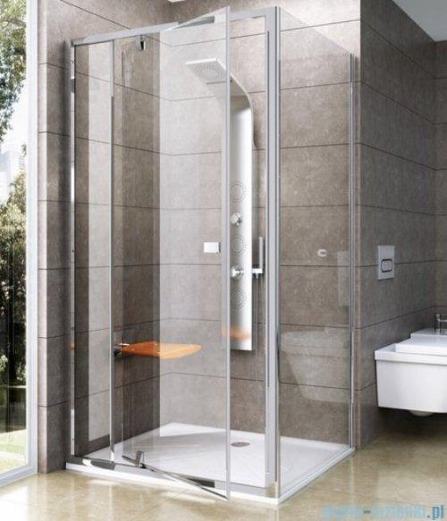 Ravak Pivot PPS ścianka prysznicowa 90cm satyna transparent Anticalc 90G70U00Z1