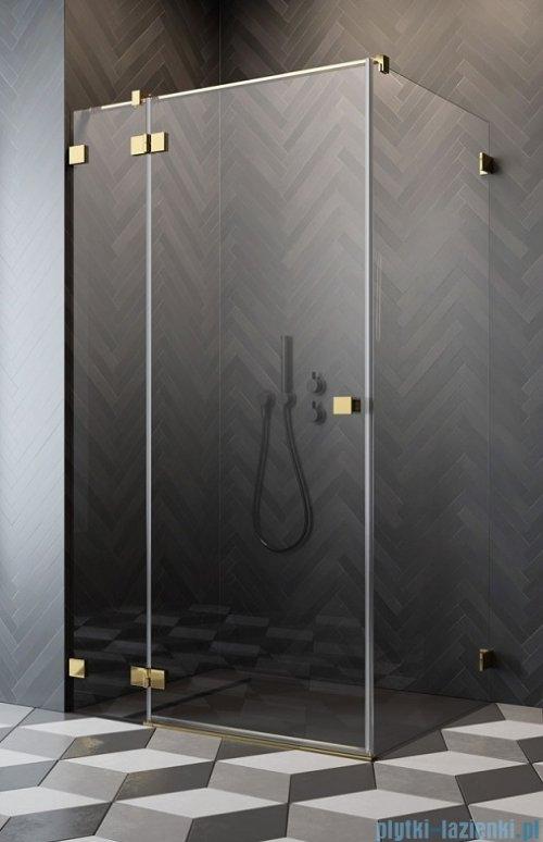 Radaway Essenza Pro Gold Kdj kabina 120x120cm lewa przejrzyste 10097120-09-01L/10098120-01-01