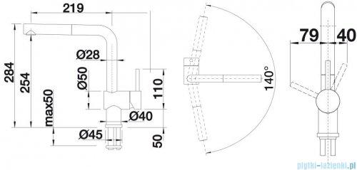 Blanco Linus-s  bateria wysokociśnieniowa kolor: bazaltowy  517643