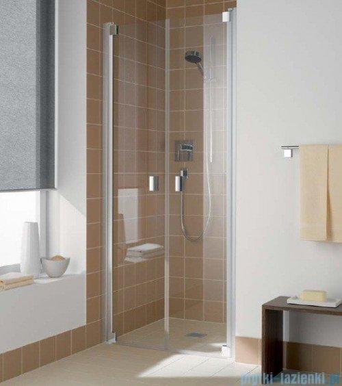 Kermi Raya Drzwi wahadłowe, 2-skrzydłowe, szkło przezroczyste, profile srebrne 120x200 RAPTD12020VAK
