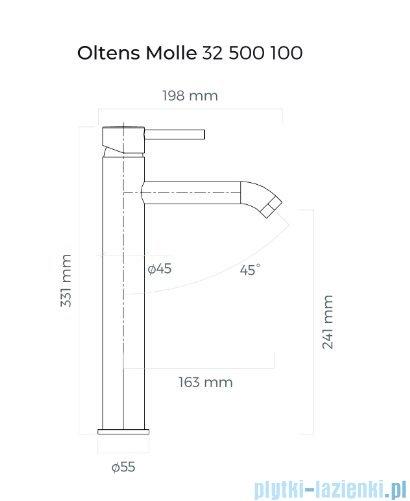 Oltens Molle bateria umywalkowa wysoka chrom 32500100