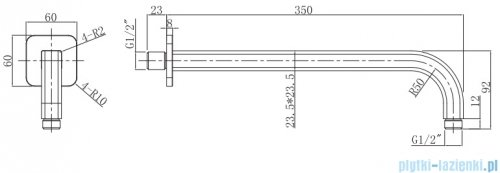 Omnires ramię ścienne L=35 cm grafit RA15GR
