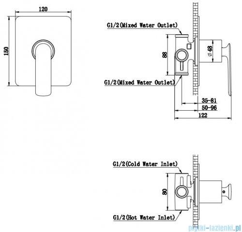 Kohlman Experience black podtynkowa bateria wannowa czarny mat QW220EB