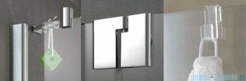 Kermi Pasa XP Parawan 100x150 lewy szkło przezroczyste profil srebro mat PXDTL100151AK