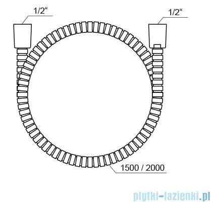Ravak wąż prysznicowy metalowy 150cm X07P340