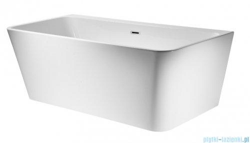 Corsan Iseo wanna wolnostojąca przyścienna 170x80 cm biała + syfon klik-klak