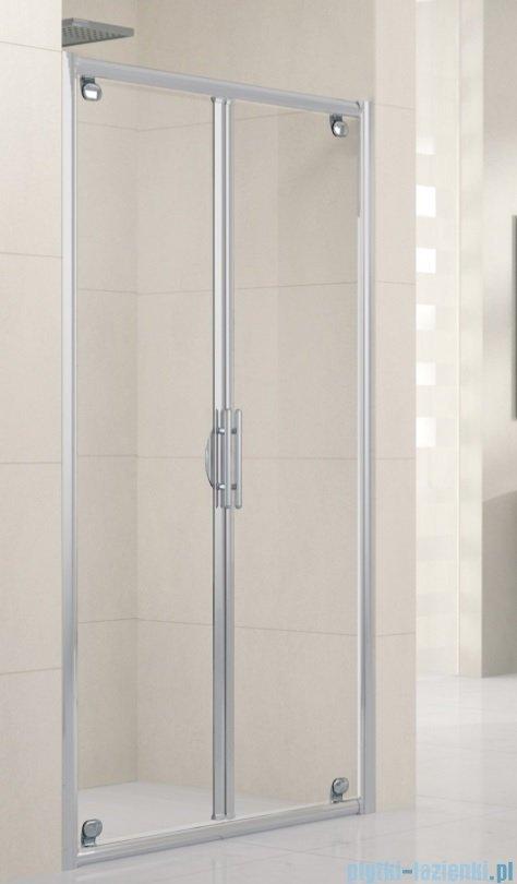 Novellini Drzwi prysznicowe składane LUNES B 66 cm szkło przejrzyste profil chrom LUNESB66-1K