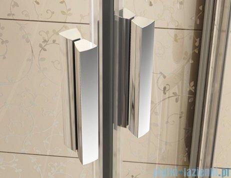 Ravak Blix BLDP4 drzwi prysznicowe 150cm białe transparent Anticalc 0YVP0100Z1