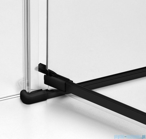 New Trendy Avexa Black kabina prostokątna 80x70x200 cm przejrzyste prawa EXK-1561