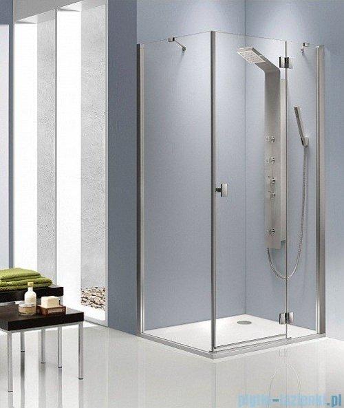 Radaway Kabina prysznicowa Essenza KDJ 90x80 prawa szkło przejrzyste + brodzik Doros D + syfon