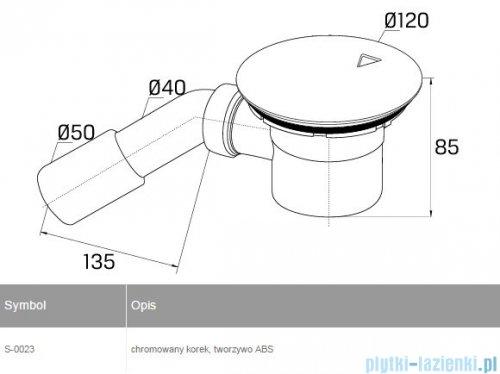 New Trendy syfon brodzikowy z otworem odpływowym Ø 90 S-0023