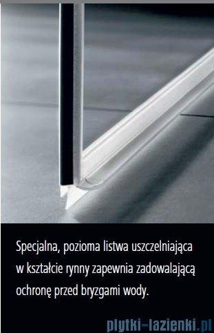 Kermi Tusca wejście narożne, jedna połowa, prawa, szkło przezroczyste KermiClean, profil srebro 100x200cm TUEPR10020VPK