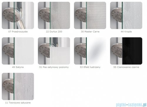 SanSwiss Swing Line SLB1 Parawan 1-częściowy 80cm profil srebrny Prawy SLB1D08000107