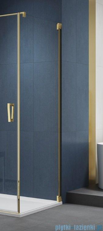 SanSwiss Cadura Gold Line ścianka boczna 90x200cm profile złote CAT10901207