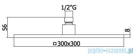Paffoni Deszczownica 300x300 mm Syncro King ZSOF078CR